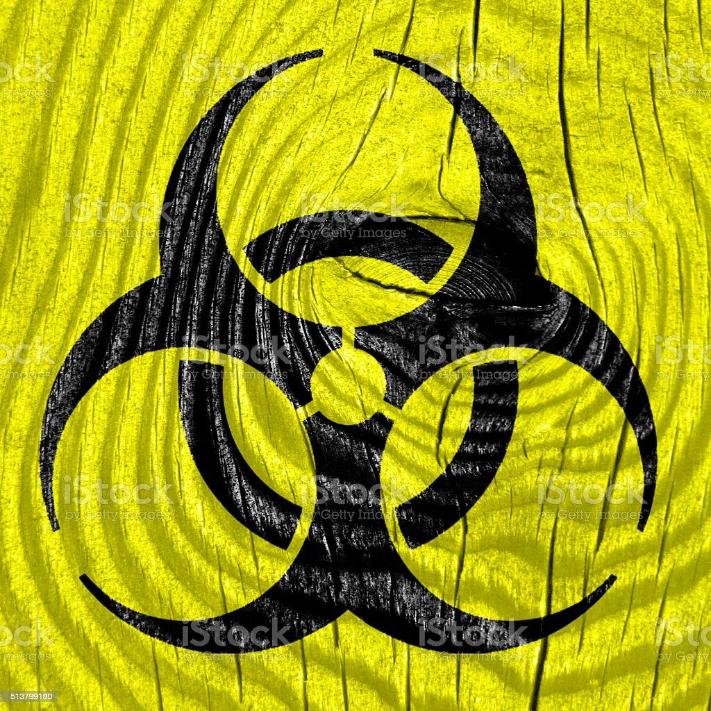 Bio hazard sign on a grunge background stock photo