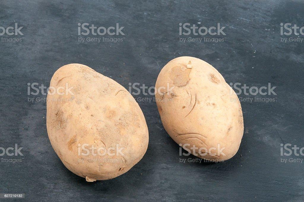Bio Kartoffeln stock photo