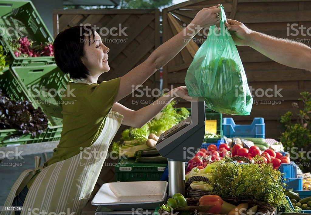 Bio Market royalty-free stock photo