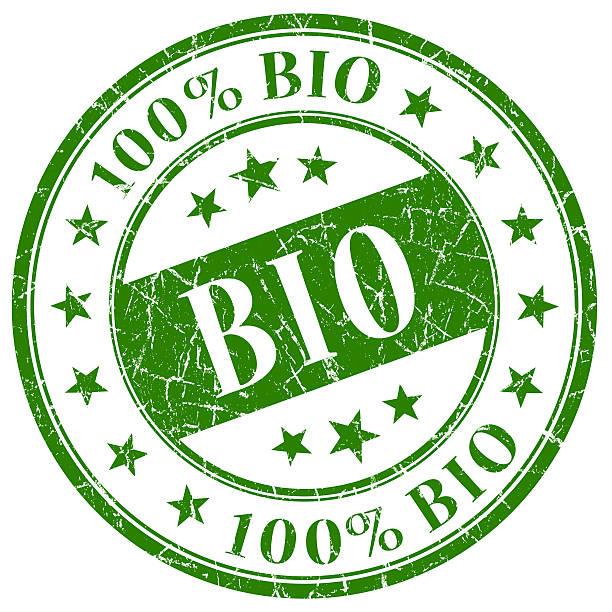 bio stamp - foto stock
