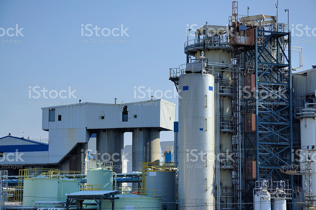 biochemical factory royalty-free stock photo