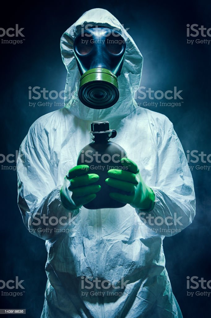 Biochemical Warfare and Water Protection stock photo