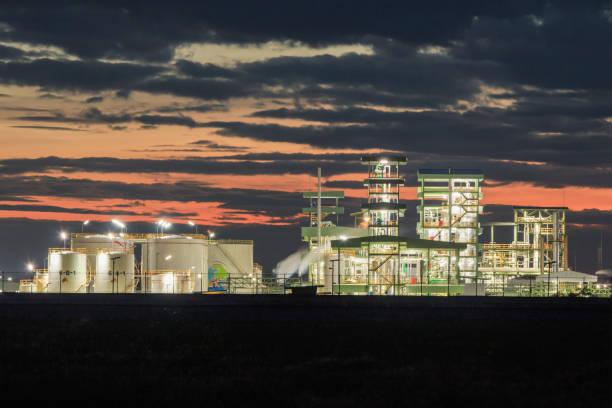 Biodiesel refinery in Thailand. stock photo