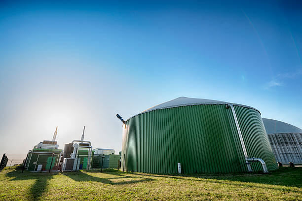 Bioenergie, Biomass energy plant, Germany stock photo