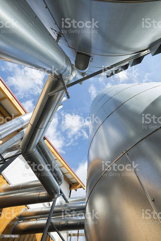 Bioenergy buffer vessel at Energiewende, Germany stock photo