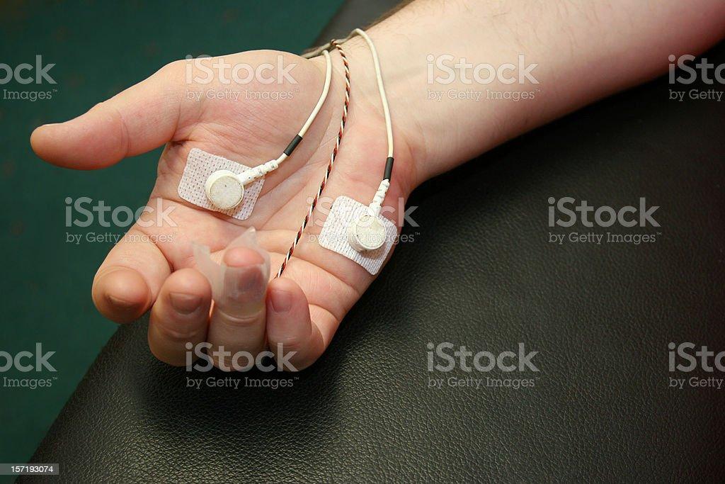 Biofeedback Hand stock photo