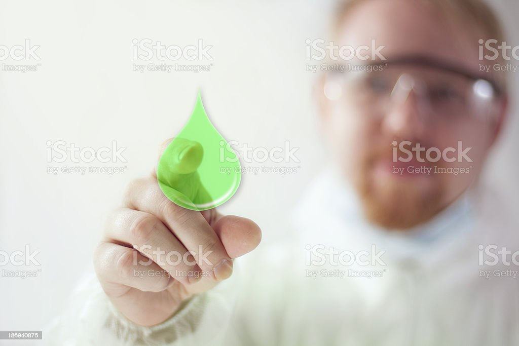 Biofuel green fuel icon for the future royalty-free stock photo