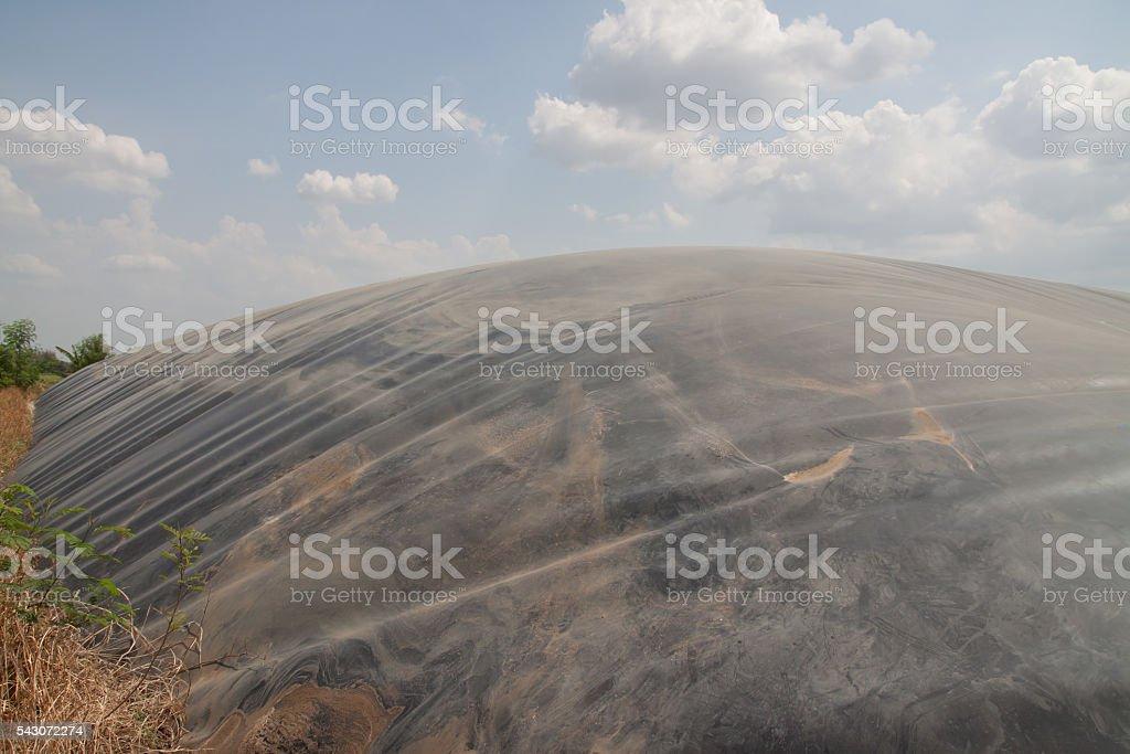 Biogas balloon stock photo
