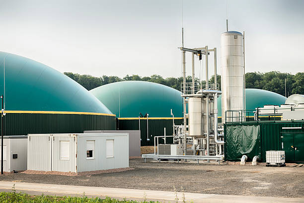 Biogas, Biomass, Bio Fuel Plant, Energiewende, Fermenter stock photo