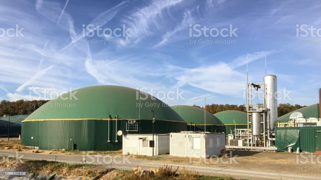 Biogas Biomass Energy Plant Germany Stock Photo - Download
