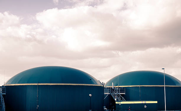 Biogas energy Germany. stock photo