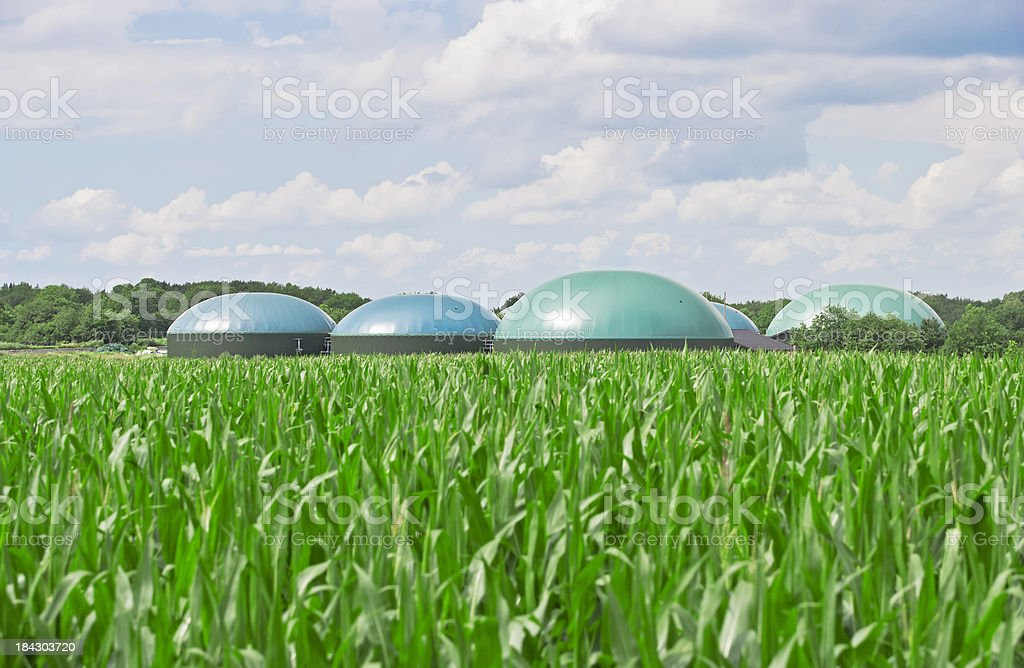 Biogas energy stock photo