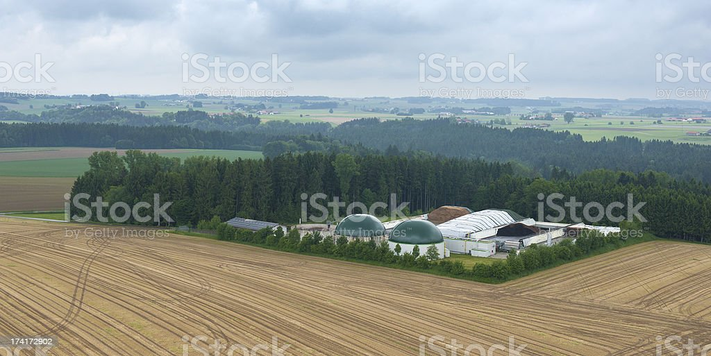Biogas Plant -Aerial View royalty-free stock photo