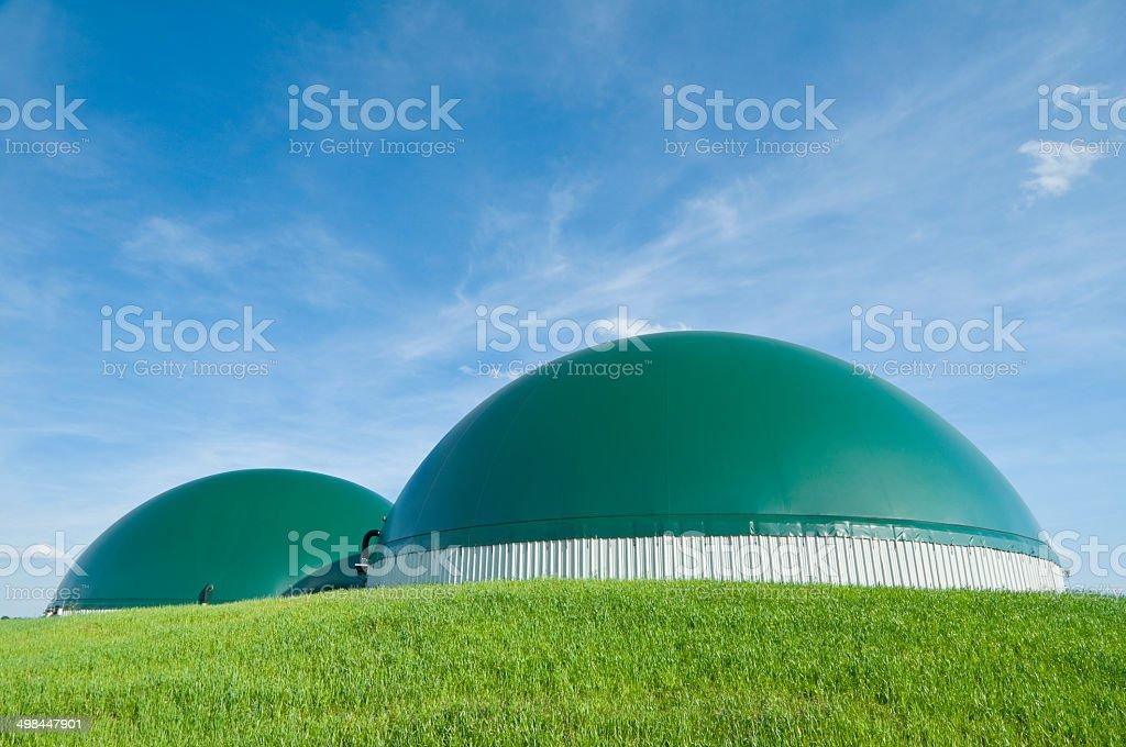 Biogaz usine pour la production d'électricité à de l'agriculture - Photo