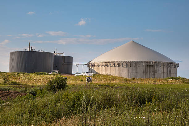 Biogas plant in Germany stock photo