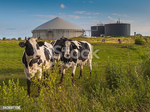 istock Biogas plant on a farm 542697156