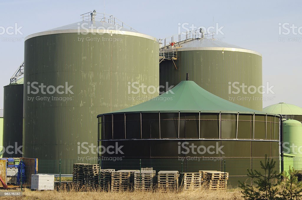 biogas plant royalty-free stock photo
