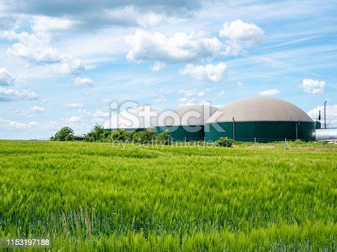 istock biogas production, biogas plant, bio power 1153197188
