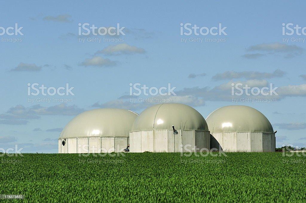 Biogas tanks. stock photo