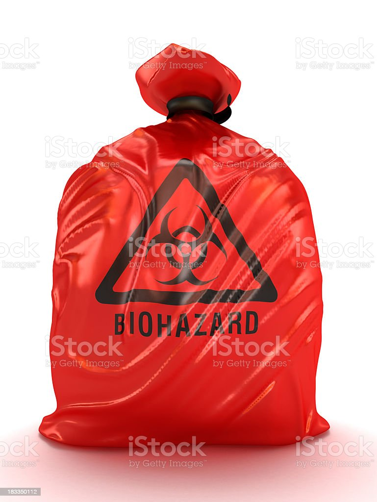 Biohazard bags stock photo