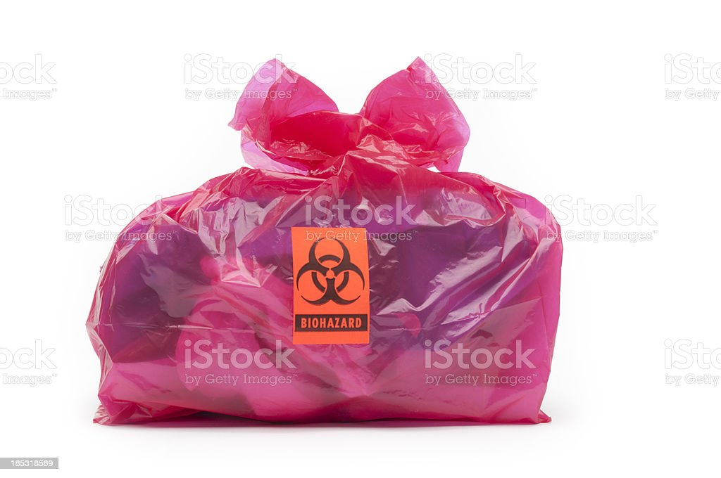 Bio-hazard bag/small stock photo