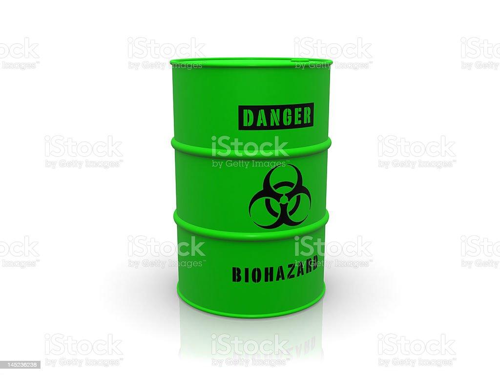 biohazard barrel royalty-free stock photo