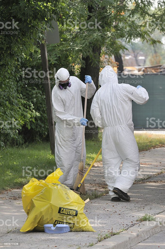 biohazard cleanup stock photo