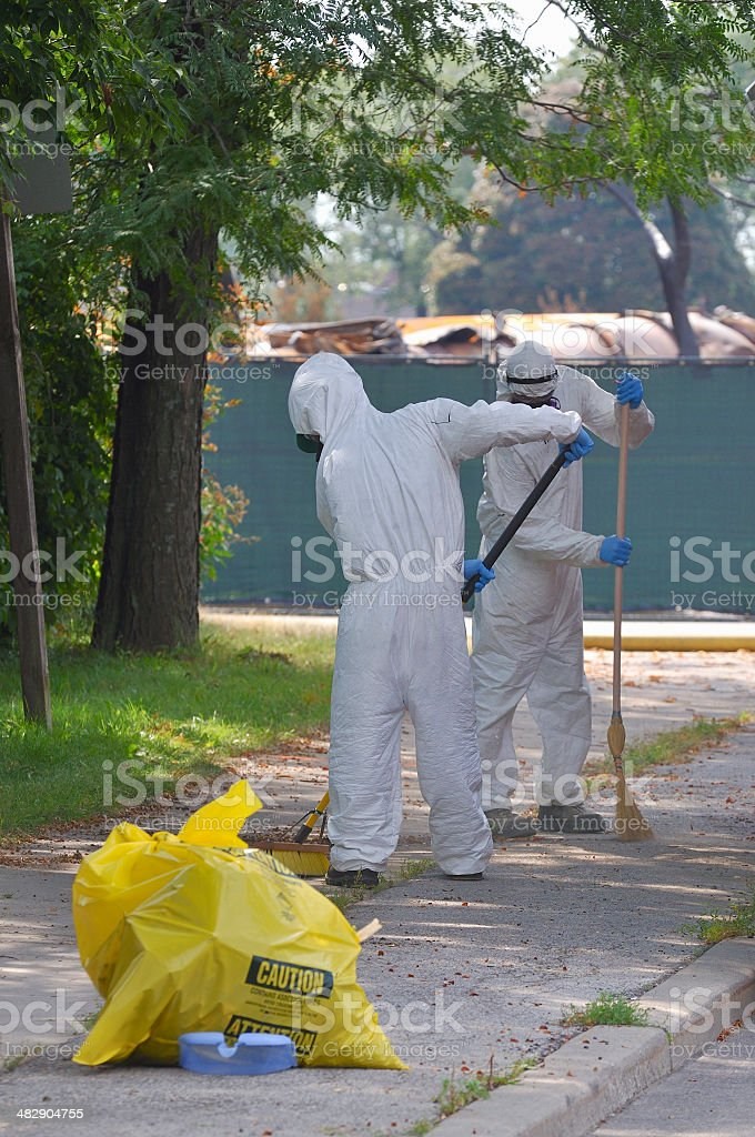 Biohazard cleanup stock photo