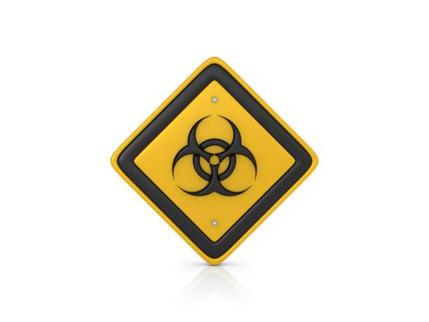 Biohazard Concept Road Sign - 3D Rendering stock photo