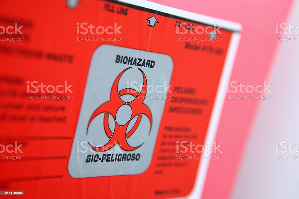 Biohazard Container stock photo
