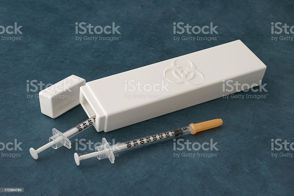Biohazard Container royalty-free stock photo