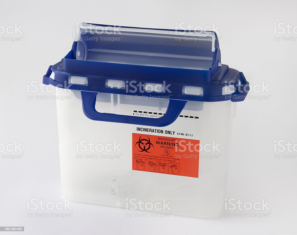 Biohazard Container stock photo