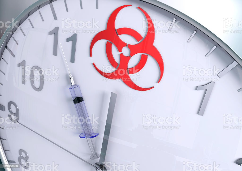 Biohazard countdown stock photo