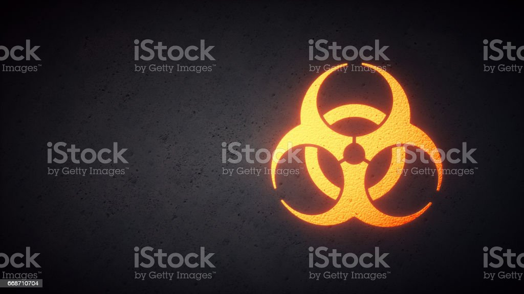 Biohazard Design Yellow stock photo