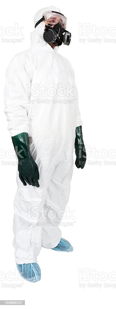 Bio-Hazard Man stock photo