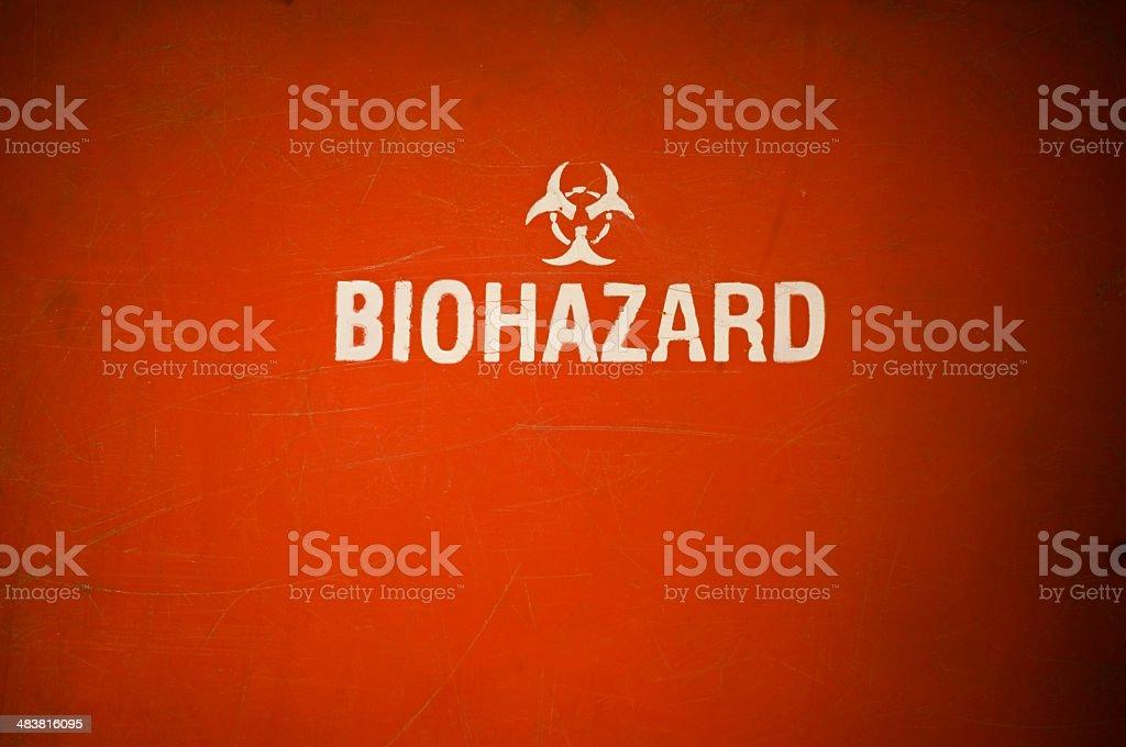 Bio-hazard Red royalty-free stock photo