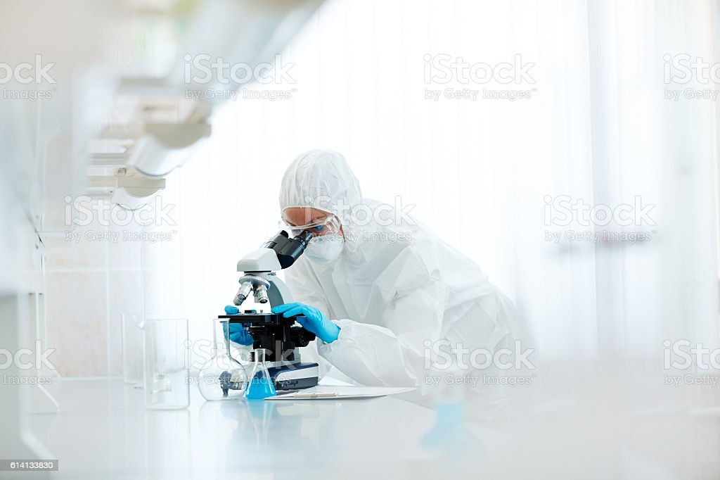 Biohazard research stock photo
