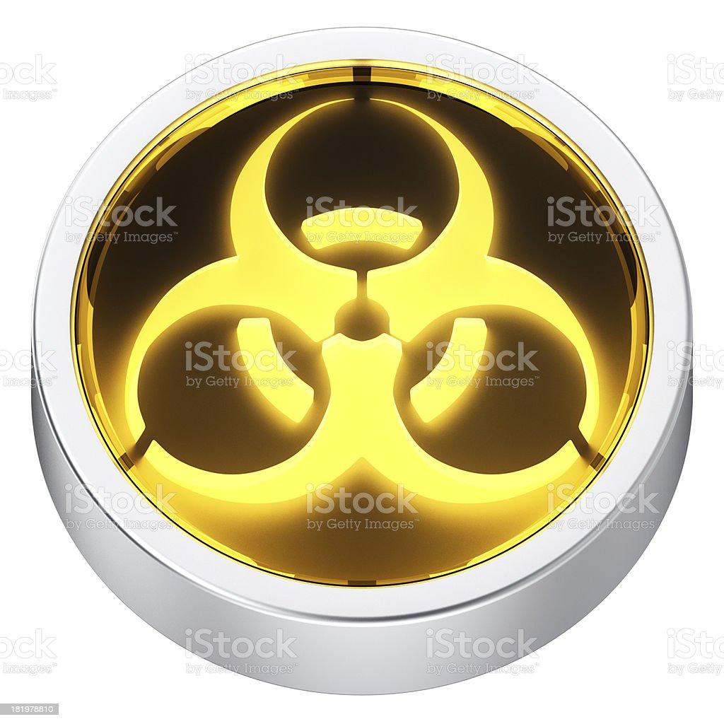 Biohazard round icon royalty-free stock photo