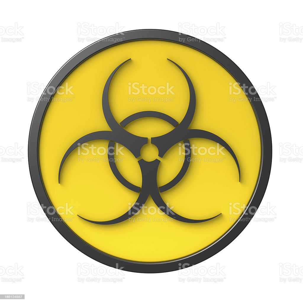 Biohazard sign royalty-free stock photo
