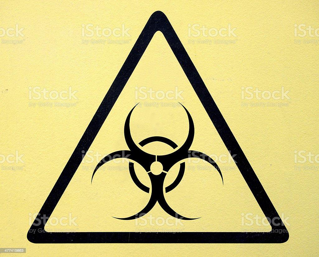 Biohazard sign stock photo
