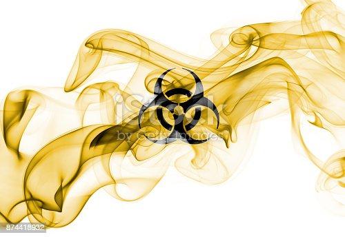 istock Biohazard smoke sign 874418932