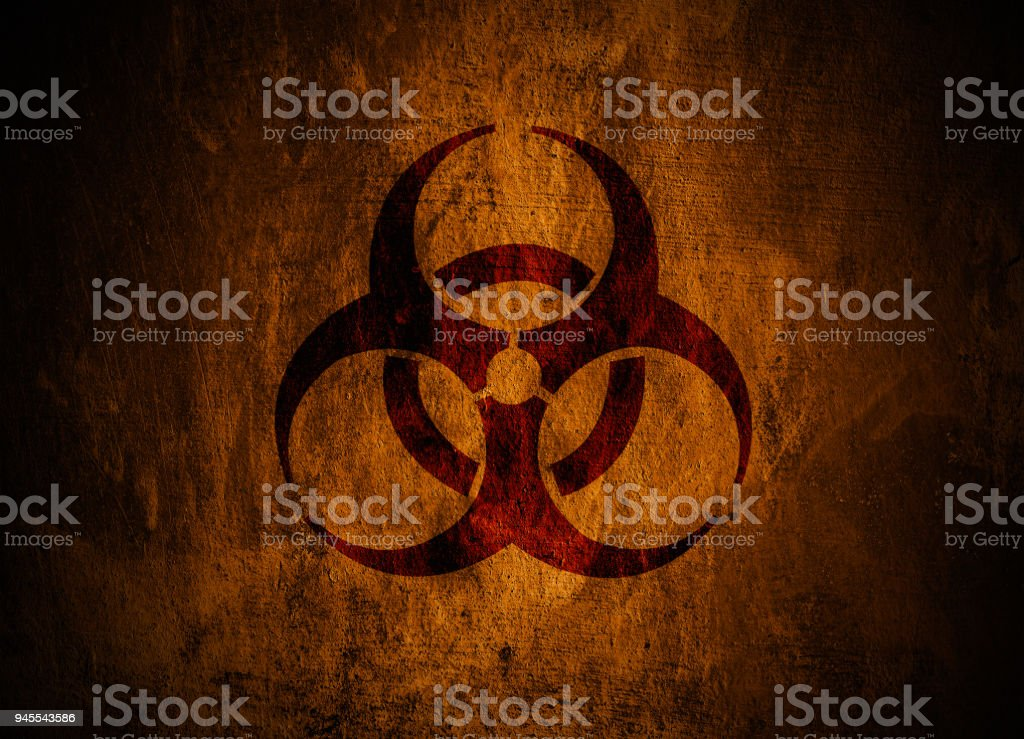 Biohazard symbol. stock photo