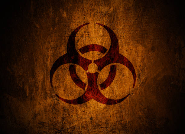Biohazard symbol. Grunge biohazard symbol. decontamination stock pictures, royalty-free photos & images