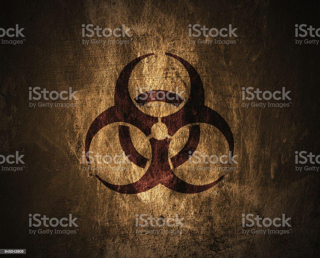 Biohazard symbol. stock photo