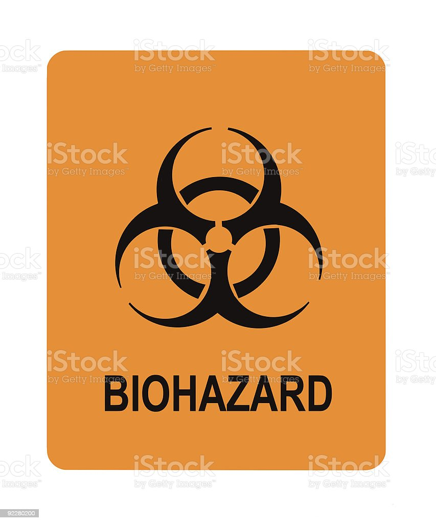 Biohazard Warning Label stock photo