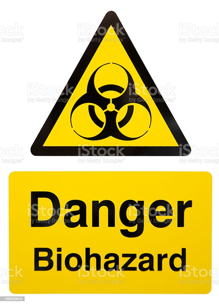 Biohazard Warning Sign stock photo