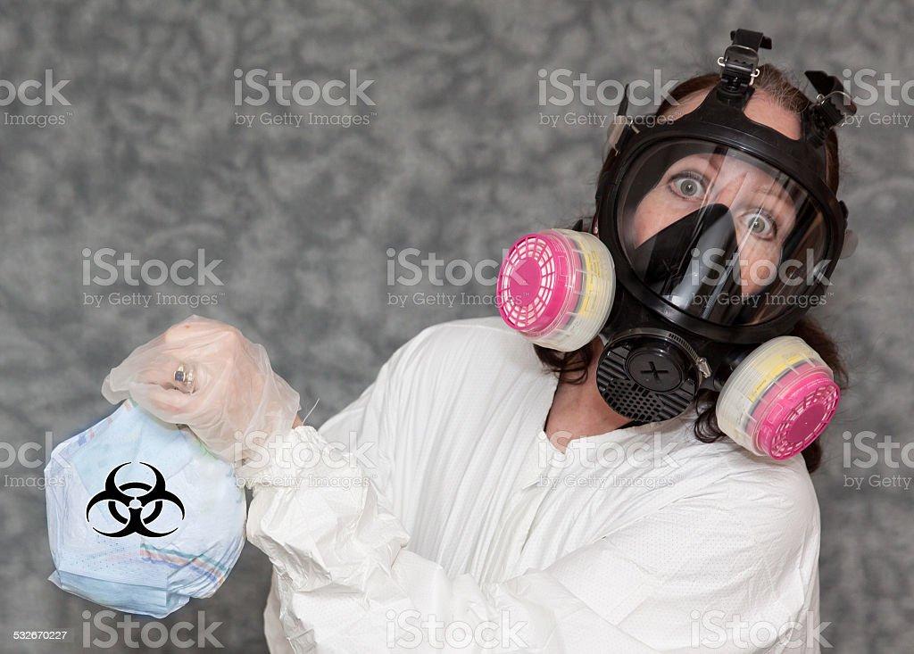 Biohazard Waste - Horizontal stock photo