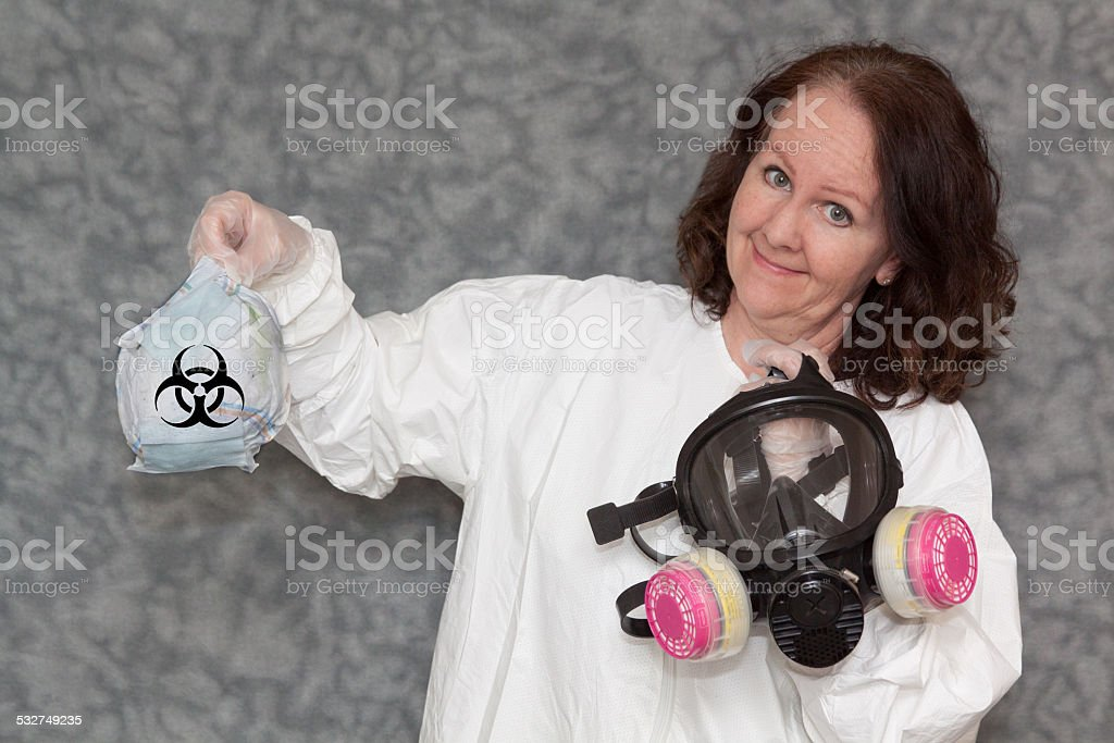 Biohazard Waste Precautions stock photo