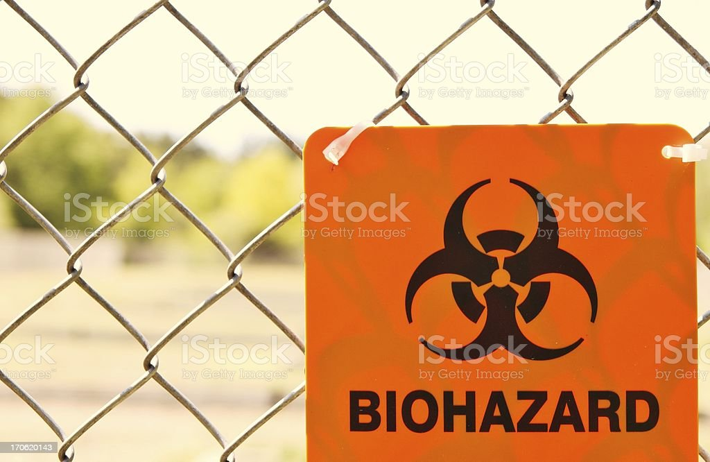 Biohazard Zone stock photo