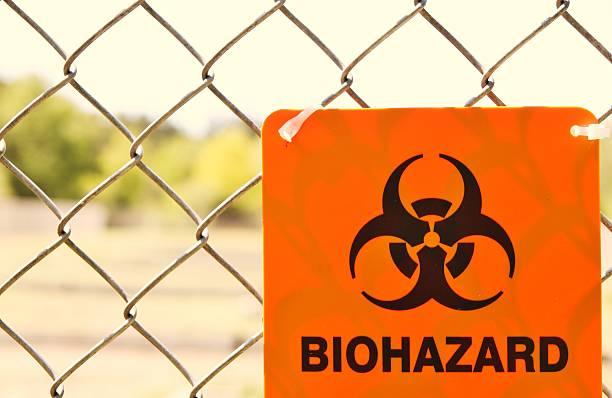 Biohazard Zone stock photo